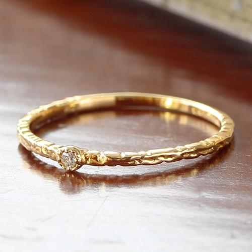 ダイヤモンド リング 指輪 レディース ジュエリー・ラブレ K18 18K 18金 ピンクゴールド ゴールド ホワイトゴールド 一粒ジュエリー 可愛いリング 華奢 シンプル 重ねづけ 誕生日プレゼント 女性 ジュエリーコンテス ブランド 宝石 おしゃれ