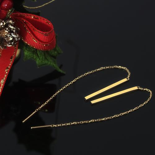 アメリカンピアス 10K レディース・カルラージュ K10 10金 ピンクゴールド ホワイトゴールド 地金 チェーンピアス ジュエリー 華奢 シンプル 棒 バーデザイン 誕生日プレゼント 女性 ギフト 揺れる ぶらさがり おしゃれ ブランド