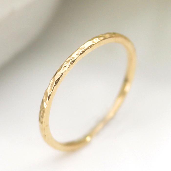 リング 指輪 レディース ジュエリー 18金 K18 地金・ミュベル ピンクゴールド ゴールド ホワイトゴールド 華奢 シンプル しわ加工 クラシカル 大人 上品 オフィス 使える 普段使い 重ねづけ 誕生日プレゼント 女性 ブランド おしゃれ
