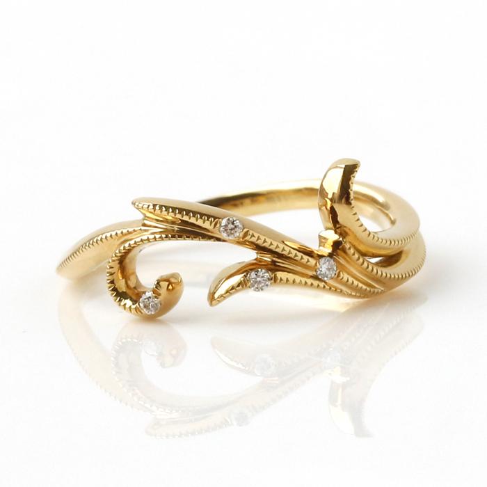 【あす楽対応】【9号限定】ダイヤモンド K18ゴールドリング・ヴィエナロサ※こちらが最後の入荷です。再入荷はございません。 ブランド 宝石