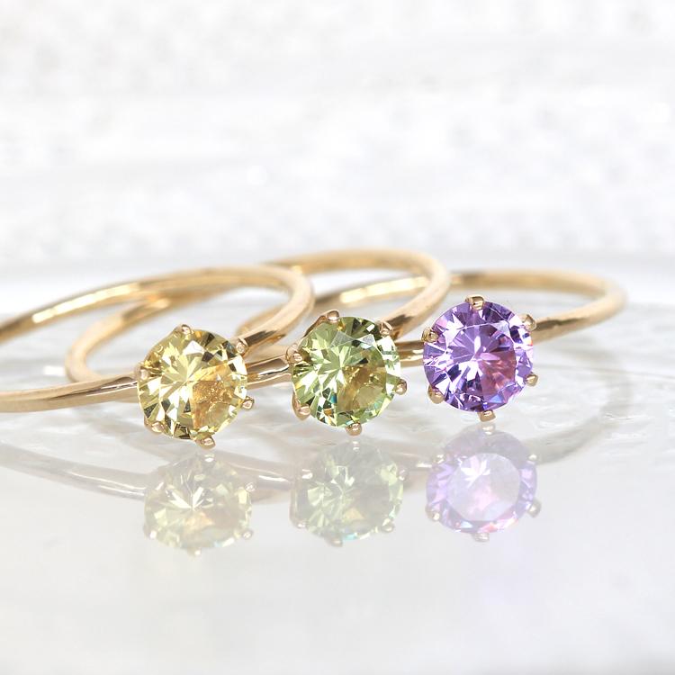 カラーチェンジクリスタル リング 指輪 レディース ジュエリー・ピュアマジック K10 10K 10金 ゴールド 色が変わる チェンジカラー誕生日プレゼント 女性 ブランド 宝石
