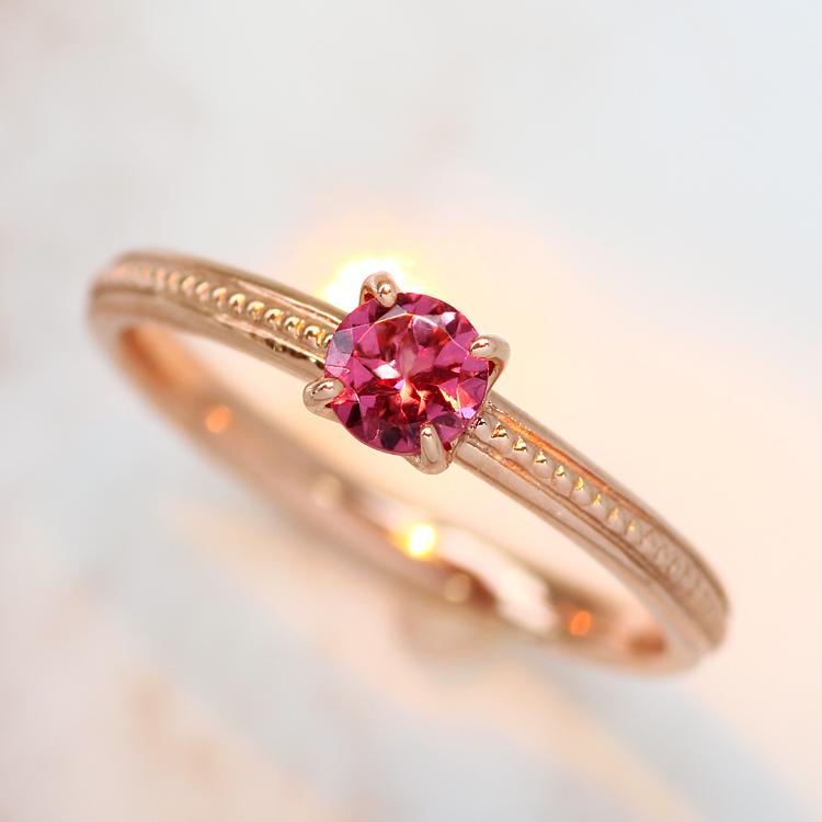 マラヤガーネット リング・ルリディナ 10K アクセサリー レディース 指輪 1月誕生石リング ファッションリング 誕生日プレゼント 女性 一粒リング K10 10金 ブランド 宝石 おしゃれ