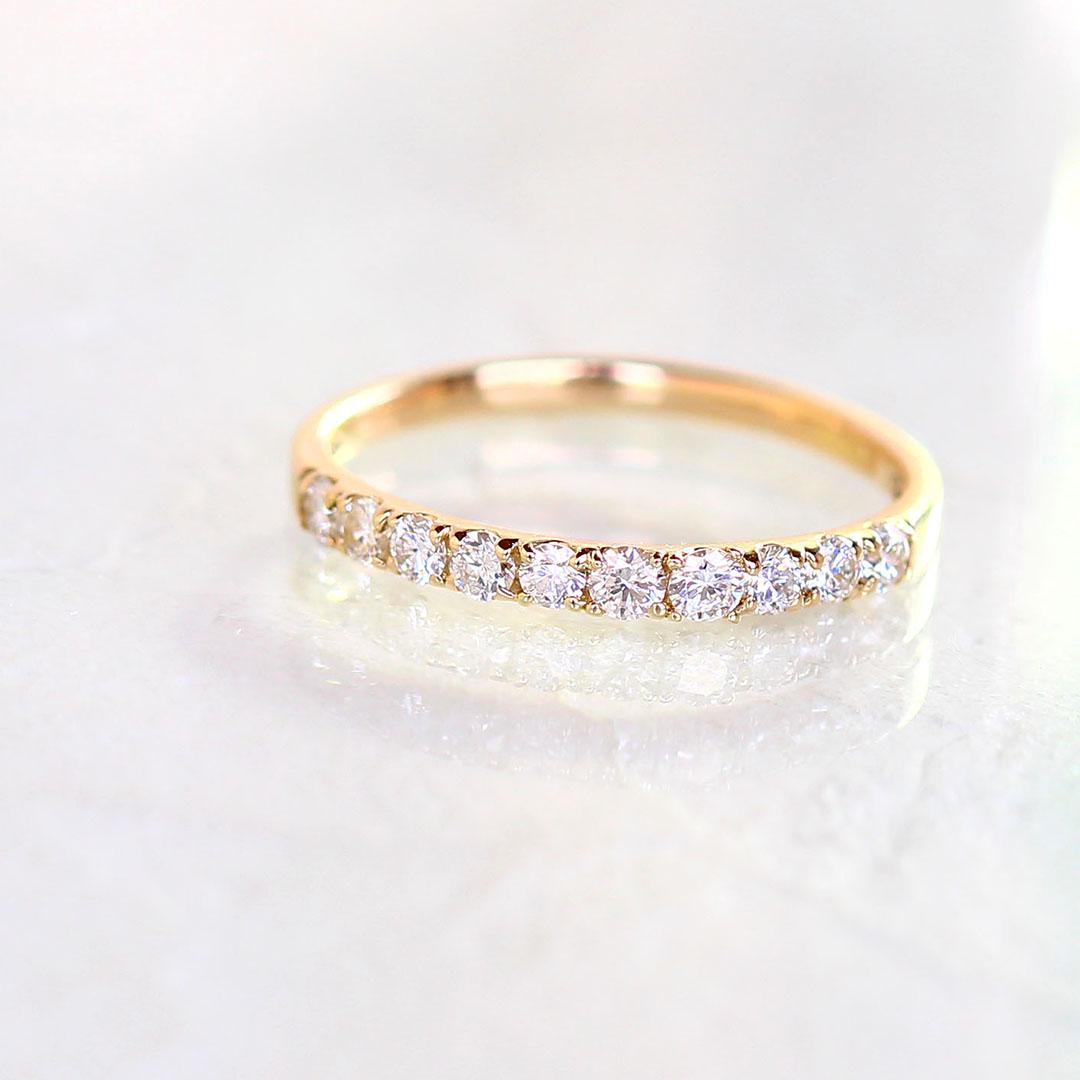 ダイヤモンド 合計0.3ct エタニティリング 10K レディース 指輪・ティルム ゴールド K10 10金 エタニティーリング 重ね付け 重ねづけ アクセサリー 華奢 シンプル ファッションリング ブランド 宝石
