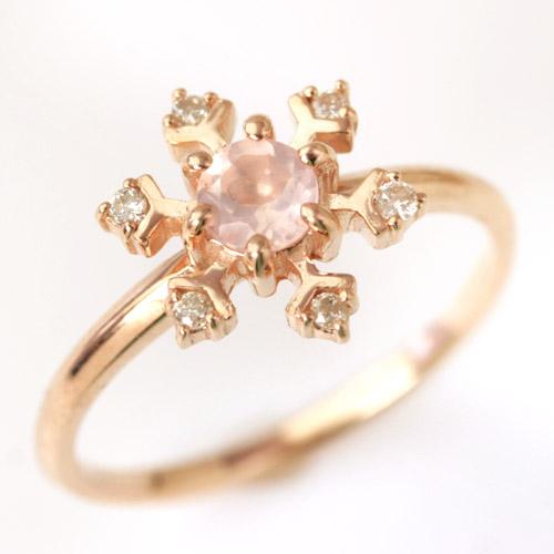ダイヤモンド 9カラーストーン ゴールド リング レディース 指輪・プルム *ローズクオーツ・スカイブルートパーズ・アイオライト・ホワイトトパーズ・ ブルームーンストーン・ロンドンブルートパーズ* ファッショ ブランド 宝石 おしゃれ