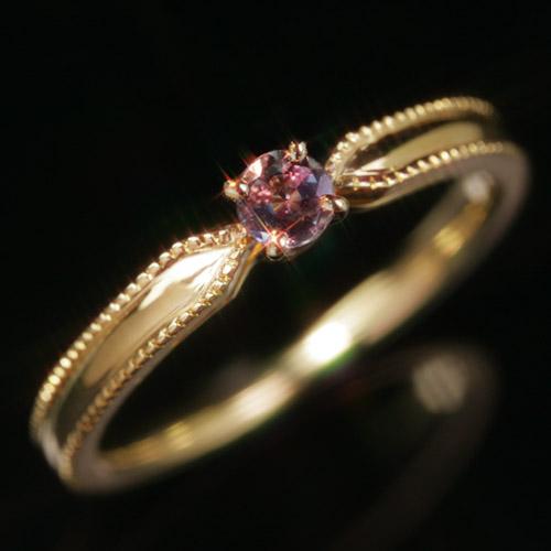 ブラジル産アレキサンドライト エメラルドマイン社 10K ピンクゴールド ホワイトゴールドリング レディース 指輪・パオリエッタ K10 10金 華奢 シンプル ファッションリング 可愛い ゆびわ ジュエリー ブランド 宝石 おしゃれ カラーチェンジ チェンジカラー