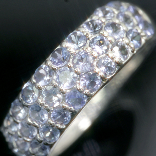 タンザニア産タンザナイト K10ゴールド リング レディース 指輪・ルシャーレ 華やかなパヴェが大人気! ファッションリング 可愛い ゆびわ ジュエリー ブランド 宝石 おしゃれ