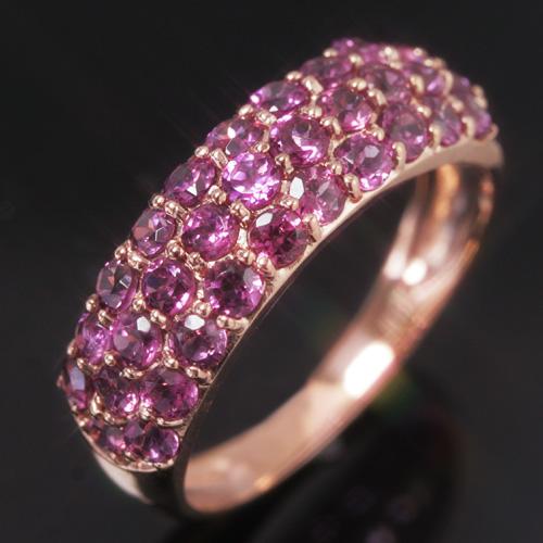 ロードライトガーネット/ガーネット K10ゴールド リング レディース 指輪・シャンラヴィエベル 華やかなパヴェが大人気! ファッションリング 可愛い ゆびわ ジュエリー ブランド 宝石 おしゃれ