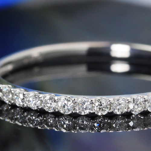 リング 指輪 0.1ctダイヤモンド 10K ゴールド レディース・エタニエール K10 10金 ピンキーリング対応 エタニティリング エタニティーリング ピンクゴールド ホワイトゴールド 天然ダイアモンド 誕生日プレゼント 女性 ファッションリング ブランド 宝石 おしゃれ