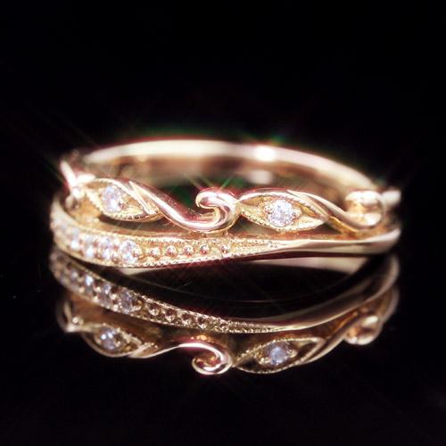 ダイヤモンド K18 ピンクゴールド イエローゴールド ホワイトゴールド ピンキーリング レディース 指輪・プレッシュア エタニティリング レディース 指輪を重ねづけ 18K 18金 ファランジリング ミディリング 関節リン ブランド 宝石 おしゃれ