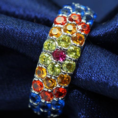 明日への希望をともす輝き・・夜空に咲く 大輪の花! カラーキュービック/シンセティックスピネル ゴールド リング レディース 指輪・花火 ファッションリング 可愛い ゆびわ ジュエリー ボタニカル柄 ブランド 宝石 おしゃれ