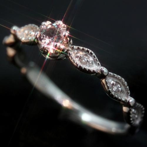エメラルドマイン社ブラジル産アレキサンドライト ダイヤモンド ゴールド リング レディース 指輪・リッカルディ 華奢 シンプル ファッションリング 可愛い ゆびわ ジュエリー ブランド 宝石 おしゃれ