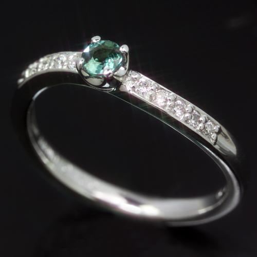 エメラルドマイン社ブラジル産アレキサンドライト 0.1ctダイヤモンド ゴールド リング レディース 指輪・ヴィオンヌ 華奢 シンプル ファッションリング 可愛い ゆびわ ジュエリー ブランド 宝石 おしゃれ
