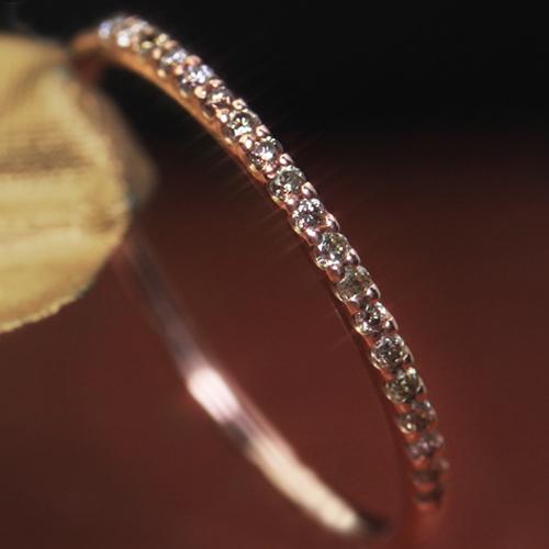 ブラウンダイヤモンド エタニティリング 指輪 10K K10 10金 ピンクゴールド ホワイトゴールド・ミンセール レディース ピンキーリング対応 エタニティーリング 重ねづけ 重ね着け 華奢 シンプル 極細 華奢 細い 小指 ファッションリング ブランド 宝石 おしゃれ