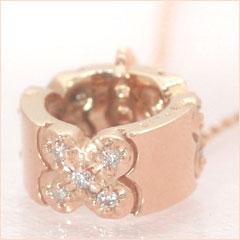 【ダイヤモンド ピンクゴールドネックレス・パティナ】永遠の愛を象徴するダイヤモンドを、2人の幸せな未来をイメージしたピンクゴールドのリング 指輪にあしらって、ロマンティックなネックレスをお作りし ブランド 宝石 おしゃれ