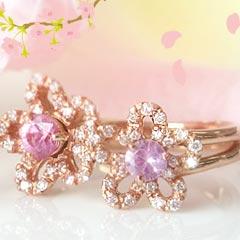ダイヤモンド ピンクサファイアリング 指輪 新品未使用 フルブルーム 華奢 シンプル おしゃれ 宝石 可愛い ジュエリー 完全送料無料 ブランド ゆびわ
