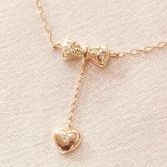【ダイヤモンド ピンクゴールドネックレス・フルーア】 華奢 シンプル ジュエリー ブランド 宝石