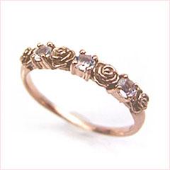 【ロイヤルブルームーンストーン ピンクゴールド リング 指輪・アルドーレ】 華奢 シンプル 可愛い ゆびわ ジュエリー ブランド 宝石 おしゃれ