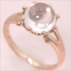【ローズクオーツ ピンクゴールド リング 指輪・セリーヌ】 華奢 シンプル 可愛い ゆびわ ジュエリー ブランド 宝石 おしゃれ