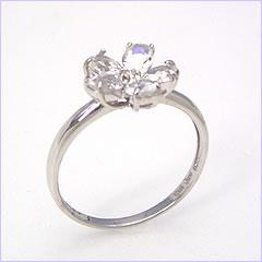 【ブルームーンストーン・ホワイトゴールド リング 指輪・セレンフルール】 華奢 シンプル 可愛い ゆびわ ジュエリー ブランド 宝石 おしゃれ