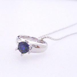 【サファイア ホワイトゴールド・ベビーリング 指輪】 華奢 シンプル 可愛い ゆびわ ジュエリー ブランド 宝石 おしゃれ