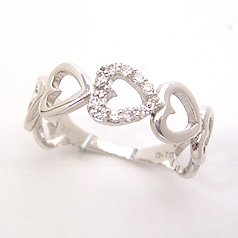 【ダイヤモンド ホワイトゴールド リング 指輪・エオリア】 可愛い ゆびわ ジュエリー ブランド 宝石 おしゃれ