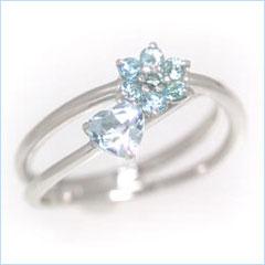 【アクアマリン ブルートパーズリング 指輪・ラシーク】ピンキーリング 指輪もおつくりできます♪ ファランジリング ミディリング 関節リング 華奢 シンプル 可愛い ゆびわ ジュエリー ブランド 宝石 おしゃれ