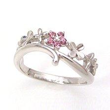 【ピンクトパーズ ダイヤモンド K18ホワイトゴールドリング・カルノーサ】「ローズトパーズ」ともよばれるピンクトパーズは、さまざまなカラーを持つトパーズの中でも特に希少なジュエル★ 華奢 シンプル ジュエリー ブランド 宝石