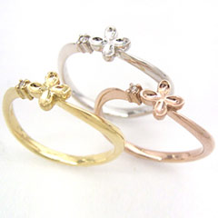 ダイヤモンド ピンクゴールド イエローゴールド 金木犀のリング 指輪 ホワイトゴールド 銀木犀のリング ジュエリー 正規認証品 新規格 ブランド おしゃれ 可愛い 宝石 全商品オープニング価格 ゆびわ