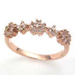 【スーパーセール10%OFF】【ローズクオーツ ピンクゴールド リング 指輪・パルフィオレン】 華奢 シンプル 可愛い ゆびわ ジュエリー ブランド 宝石 おしゃれ