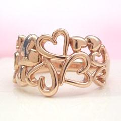 【ゴールド リング 指輪・リノクオーレ】 華奢 シンプル 可愛い ゆびわ ジュエリー ブランド 宝石 おしゃれ