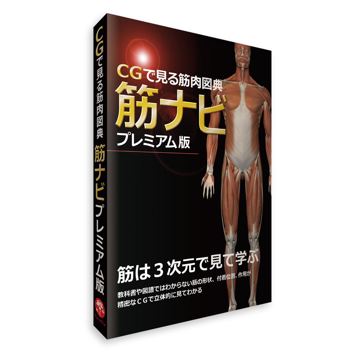パソコンソフト 筋肉 「CGで見る筋肉図典 筋ナビプレミアム版」 Windows専用 全身(177筋)CGイラスト 360° 送料無料 キャンペーン