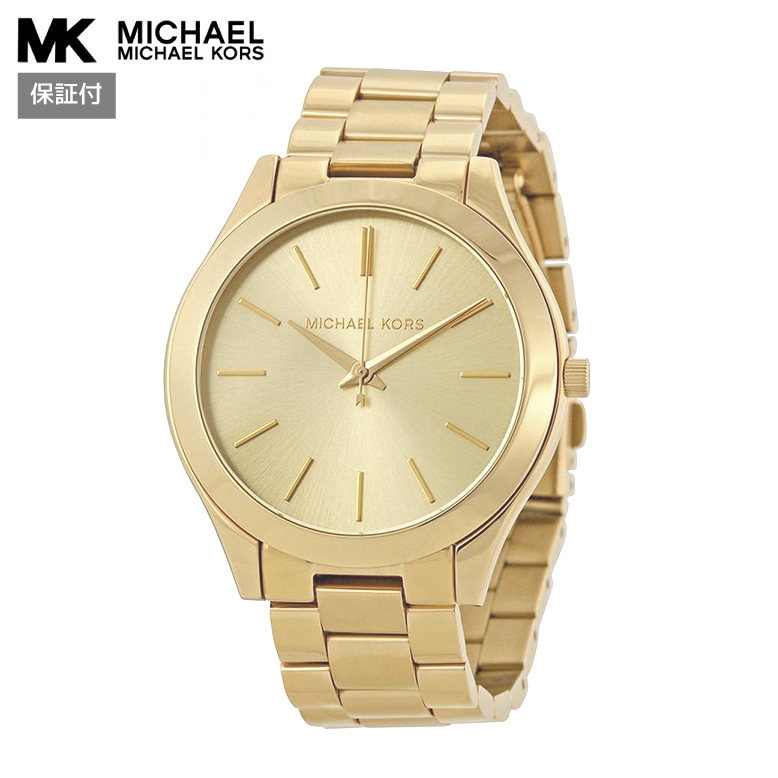マイケルコース Michael Kors MK3179 Ladies Dress Slim Runway,Gold Tone,Stainless Steel Case & Bracelet,Quartz Movement,WR レディース腕時計 正規輸入品 バーゲン