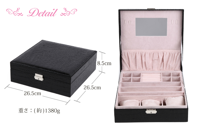 Accessories Jewelry Box Mass Storage Keyed Jewelry Case Mirror Ring Mass  Two Stage Storage Collection Watch Wristlet Ladies Menu0027s Jewelry Box  Organize ...