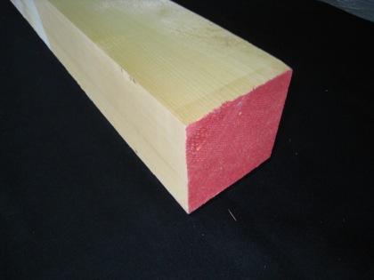 米ヒバ角材【長さ4.0m×厚さ12.0cm×巾12.0cm】節なし(3面~4面)
