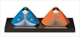ひな祭り お雛さま 福びなさん サイズ中 塗り台付 女の節句 紀州漆器 日本製 自分雛