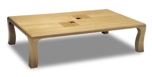テーブル リビングテーブル 和風テーブル ローテーブル 【ライフ】 幅150cmサイズ 和モダン シンプル スマート 固定脚 組立不要 軽量 天然木 タモ 国産 日本製【smtb-KD】