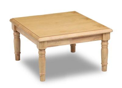 こたつ 家具調こたつ コタツ ロデオ 正方形 80cm角 カントリー調 かわいい リビング ロクロ脚 天然木 パイン【smtb-KD】