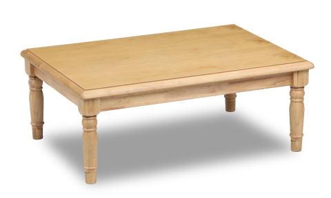 こたつ 家具調こたつ コタツ ロデオ 長方形 幅120cm カントリー調 かわいい リビング ロクロ脚 天然木 パイン【smtb-KD】