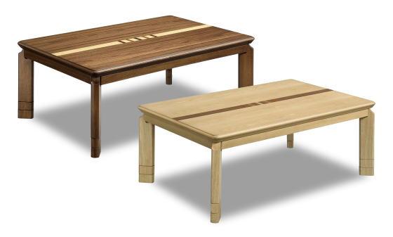 こたつ 家具調こたつ コタツ Nレイガ 長方形 幅105cm リビング テーブル おしゃれ カジュアル モダン ライン 2段継ぎ脚 天然木 セン ウォールナット【smtb-KD】