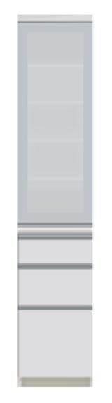 食器棚 ダイニングボード キッチンボード VI-S400KR 幅40cm 奥行45cm 高さ198cmサイズ 右開き パールホワイト ダイニング 食堂 飛散防止 耐震ロック 引出し 収納 扉 国産 日本製【開梱・設置サービス付き】【smtb-KD】