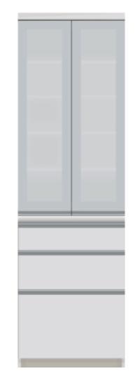 食器棚 幅60cm ダイニングボード キッチンボード VI-600K 幅60cm 両開き 奥行50cm 国産 高さ198cm 両開き パールホワイト ダイニング 食堂 飛散防止 耐震ロック 引出し 収納 扉 国産 日本製 開梱・設置サービス【smtb-KD】, アイスタジオ:c4ff9d38 --- officewill.xsrv.jp