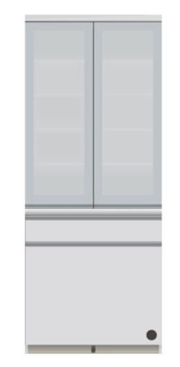 食器棚 ダイニングボード キッチンボード VI-801K 幅80cm 奥行50cm 高さ198cmサイズ 両開き パールホワイト ダイニング 食堂 飛散防止 耐震ロック 引出し 収納 扉 国産 日本製【開梱・設置サービス付き】【smtb-KD】