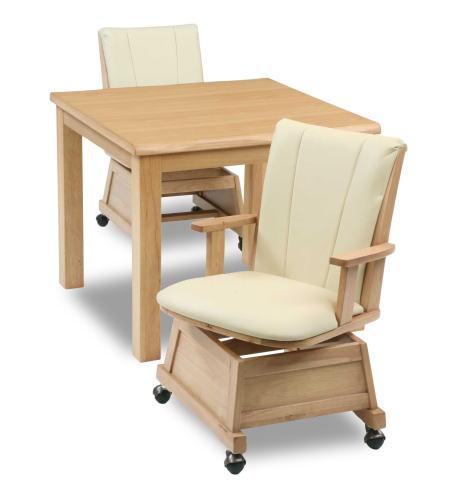 ハイタイプこたつ ダイニングこたつ 3点セット テーブル 楓80NA ×1 肘付き回転椅子 もみじ17NA ×2 リビング ダイニング 二人掛け 2人掛け【smtb-KD】