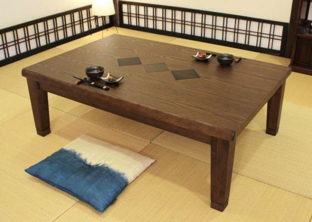 こたつ 家具調こたつ コタツ 津山KR つやま 長方形 幅150cm 模様入り モダン 天然木 タモ 国産 日本製【smtb-KD】