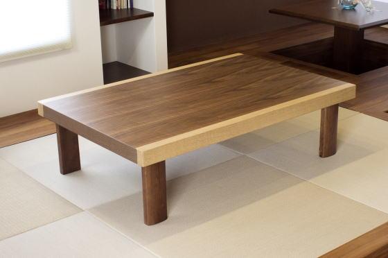 座卓 テーブル 座敷机 ローテーブル ベックII 幅120cm 折りたたみ 収納 天然木 ウォールナット 折れ脚【smtb-KD】
