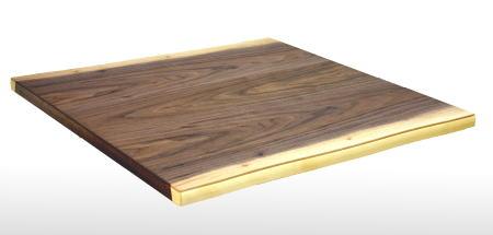 こたつ板 こたつ天板 ウォールナット 皮付き 正方形 90cm角 天然木 自然風 シンプル 和 洋 ナチュラル 国産 日本製【smtb-KD】