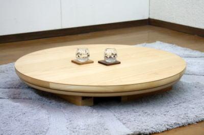 こたつ 家具調こたつ コタツ コローレ 円形 丸型 90cm丸 リビング シンプル ちゃぶ台 折りたたみ 天然木 タモ 国産 日本製【smtb-KD】