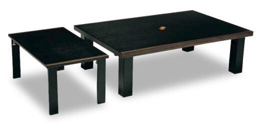 テーブル ローテーブル 補助テーブル付き座卓 セレブ 幅120cmサイズ ブラック色 黒 折りたたみ サイドテーブル付 伸張対応 シンプル 国産 日本製【smtb-KD】