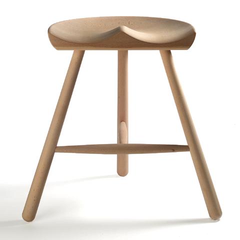 シューメーカー チェア スツール 椅子 座面高さ46cmサイズ WERNER ワーナー 北欧 天然木 ブナ 無垢 3本脚 無塗装 デザイン【smtb-KD】