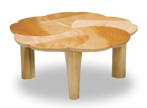 テーブル リビングテーブル ローテーブル 座卓 桜 円形 丸型 90cm丸 花びら おしゃれ かわいい デザイン 折りたたみ 天然木 サクラ 国産 日本製【smtb-KD】